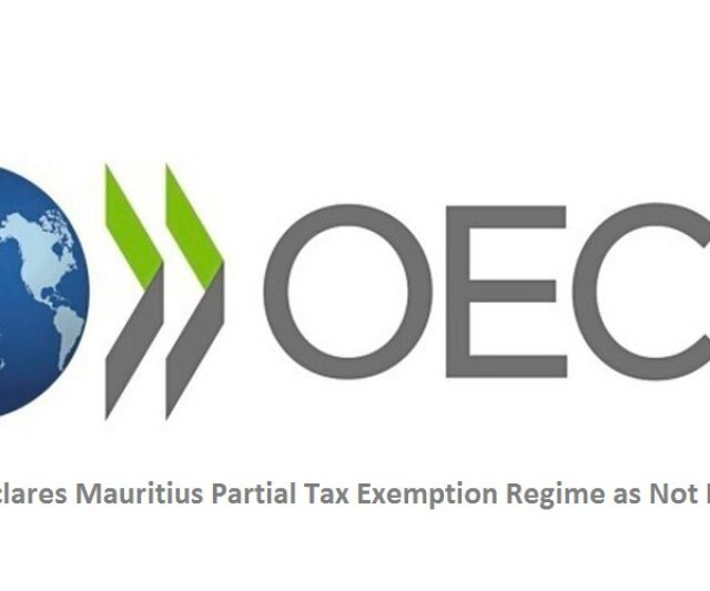 OECD Declares Mauritius Partial Tax Exemption Regime as Not Harmful